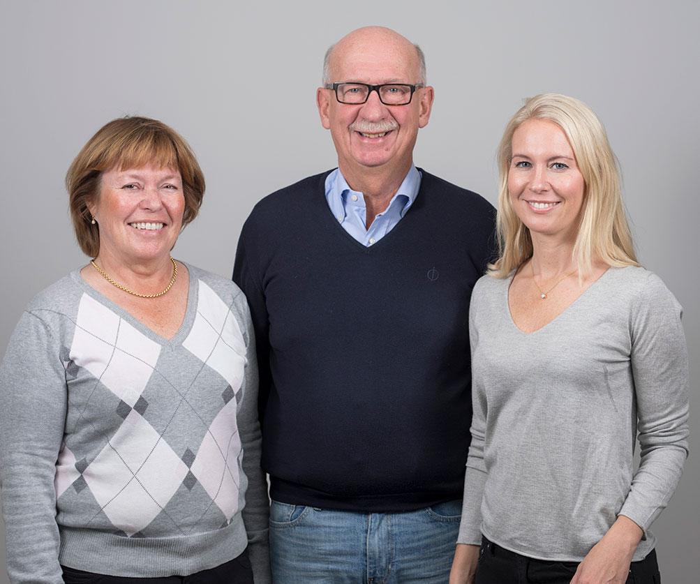 Bild på Karin, Lars-Erik och Maria